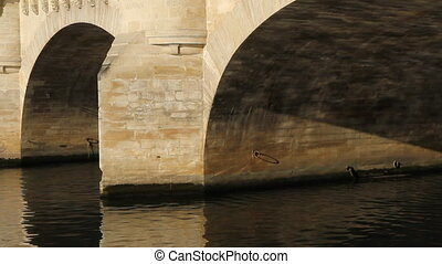 Pont Neuf Detail - Detail of Pont Neuf arches in morning sun...