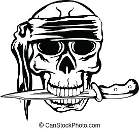 pirate with dagger - Vector image pirate with dagger