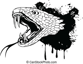 snake head - Vector illustration snake head