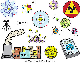Physics - atomic nuclear energy - Illustration of Physics -...