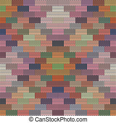 Abstract pattern - knit colorful