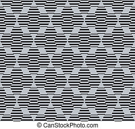 Hexagon seamless pattern with lines
