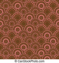Oriental texture with ornamental circles