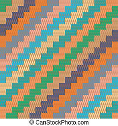 Pattern with knitted zigzag