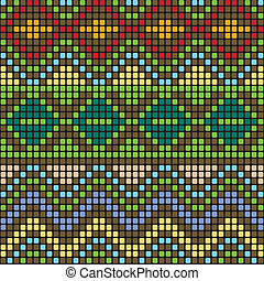 Pattern with multicolored elements