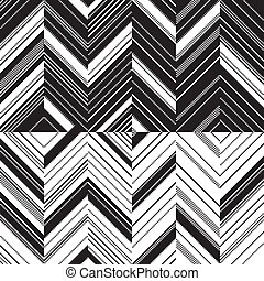 Pattern zigzag in mirror