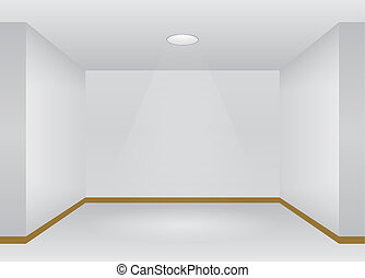 Empty Room interior with lights