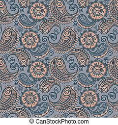 Seamless elegant paisley pattern
