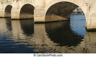Pont Neuf. Detail. - Detail of Pont Neuf arches in morning...