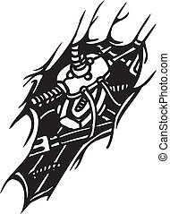 Biomechanical Designs - vector illustration - Tattoo design...