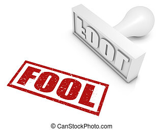 Fool Rubber Stamp - FOOL rubber stamp Part of a rubber stamp...