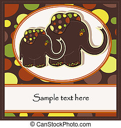 Sample Cards with two elephants