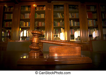 Judge's gavel - photo of Judge's gavel in the library