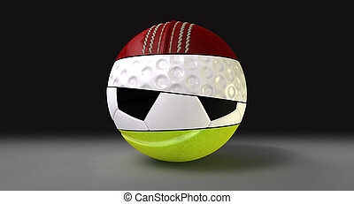 Segmented Round Sports Ball - A segmented round shaped ball...