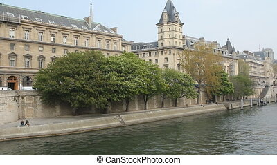 Seine Springtime - The Seine in springtime in Paris, France...