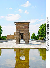 Debod Temple, Madrid - Egyptian temple Debod, Madrid, Spain