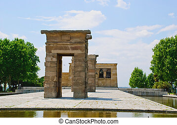 Debod Temple, Madrid - Egyptian Debod temple, Madrid, Spain