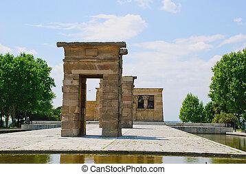 Debod Temple, Madrid - Egyptian Debod temple, Madrid, Spain