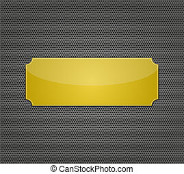 metal background with holes. Vector Illustration