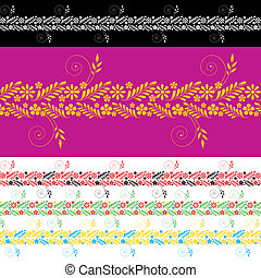 Ukrainian Pattern - Vector Ukrainian patterns with flowers...