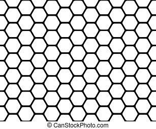 honeycomb - black honeycomb pattern isolated on a white