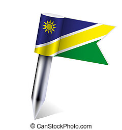 Vector Namibia flag isolated on white. Eps10