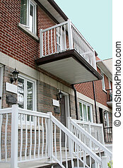 Row of attached duplexes - Row of two storey attached...