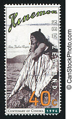 Actress Hera Tawhai Rogers - NEW ZEALAND - CIRCA 1996: stamp...