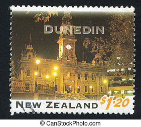 Dunedin - NEW ZEALAND - CIRCA 1995: stamp printed by New...