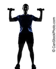 man exercising workout