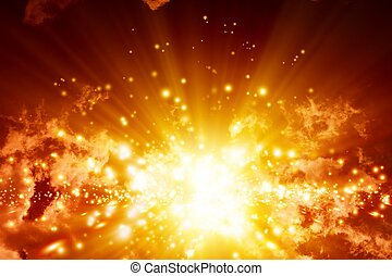 Big explosion in sky - Fantastic abstract background- big...
