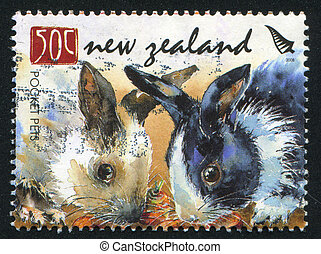 Pocket Pets - NEW ZEALAND - CIRCA 2008: stamp printed by New...