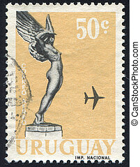 Flight from Monument to Fallen Aviators - URUGUAY - CIRCA...