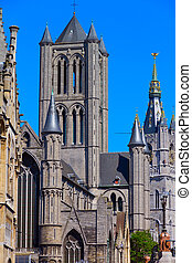 St. Nicholas' Church in Ghent, Belgium (vertical...