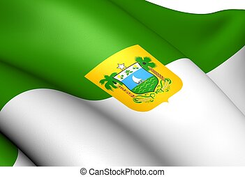 Rio Grande do Norte Flag, Brazil Close Up