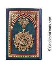 Quran - Book of The Holy Quran isolated on white