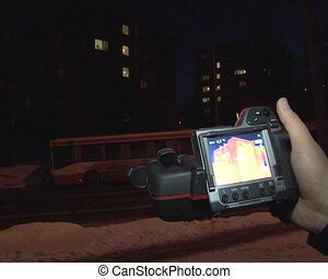 house conductivity check - thermovisual photographs imagers...
