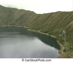 Andean mountain lake - Andean mountain and lake between them...