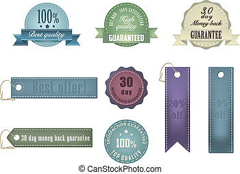 Vintage Styled Ribbons and Badges