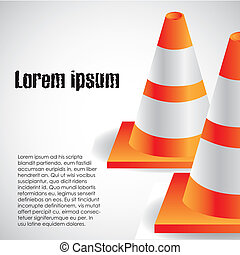 traffic cones isolated on white background, vector...