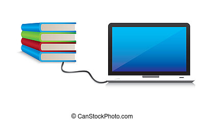 The contents of the computer. Conceptual illustration of...