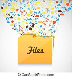File Folder icons of communication