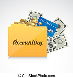 Icon of accounts Folder accounting reporting vector...