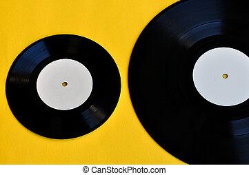 vinyl records lp and single