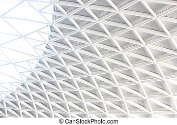 Patterned Ceiling - Patterned ceiling at Kings Cross Station...