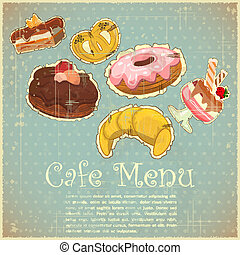 Vintage Cover Cafe or confectionery Menu - Vintage Cover...