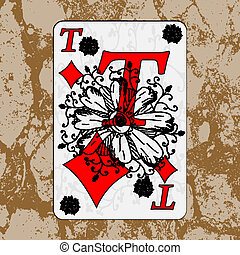 Grunge playing cards