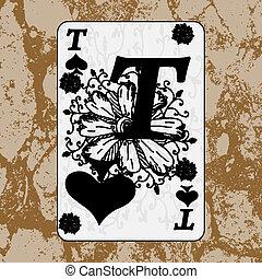 Grunge playing cards