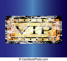 Gold VIP card. vector