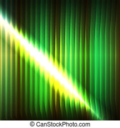 abstract lines of green neon light
